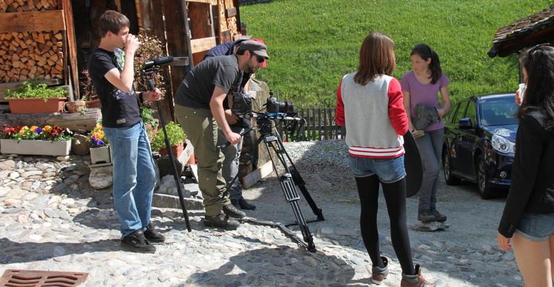 Dreharbeiten Rheinwald Spluegen 1