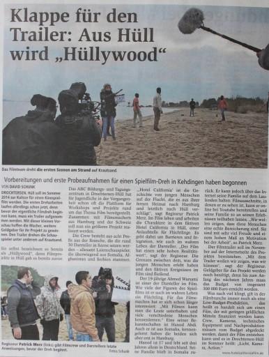 Zeitungsbericht Stader Tagblatt