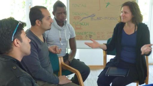 Diskussionen in verschiedensten Sprachen sind Alltag im Sprachcamp